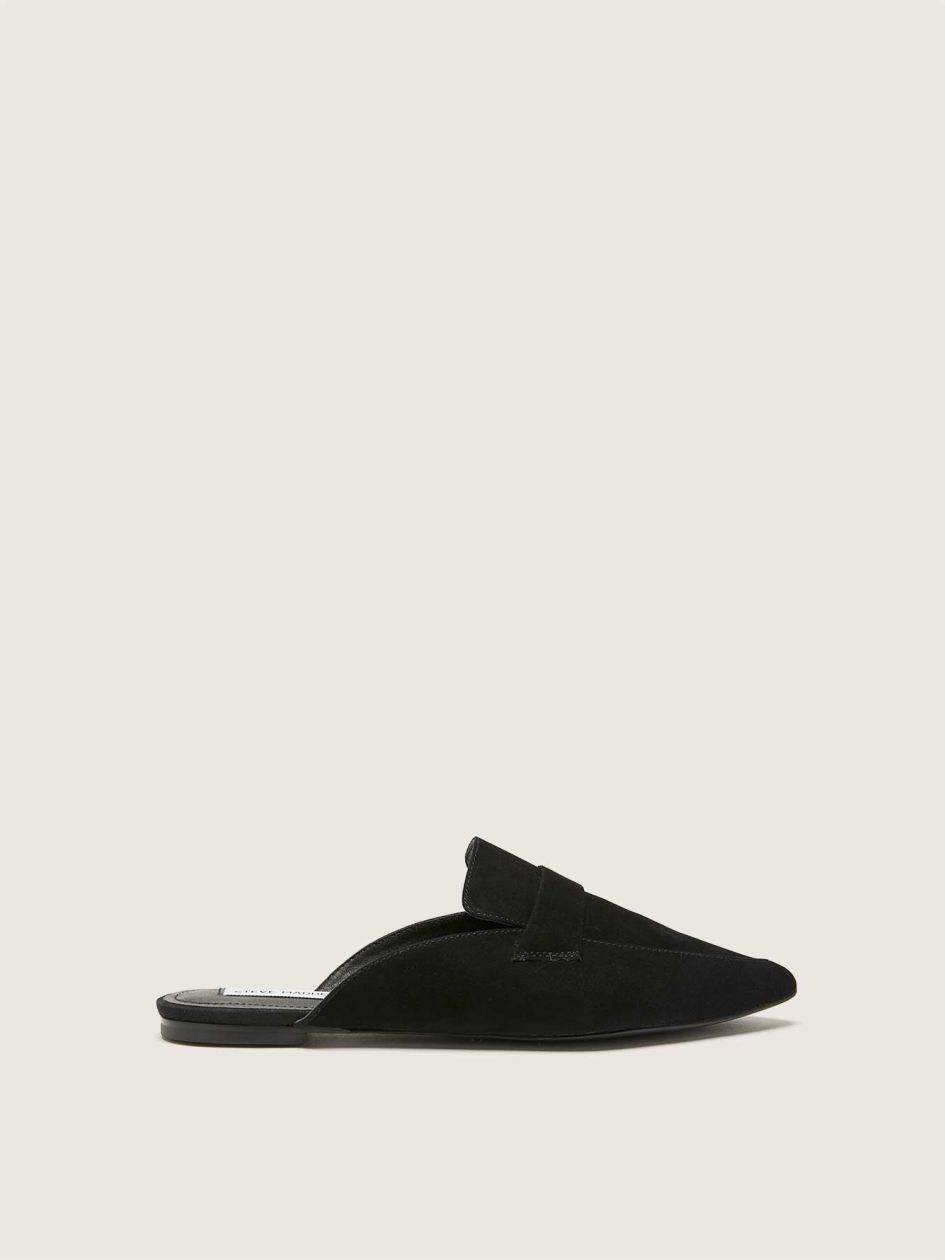 Wide-Width Pointy-Toe Suede Mules - Steve Madden