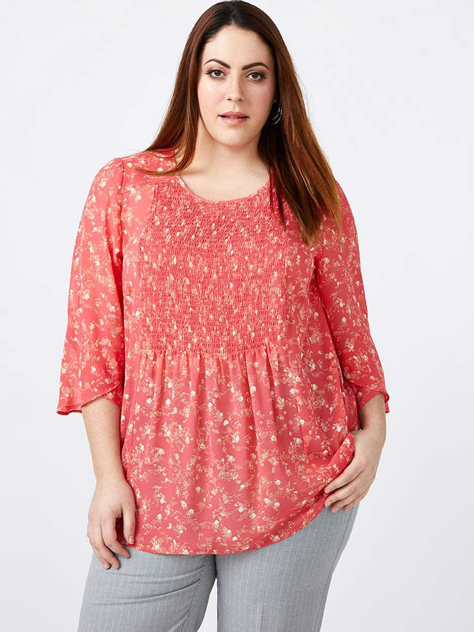 Smocked Floral Blouse - In Every Story