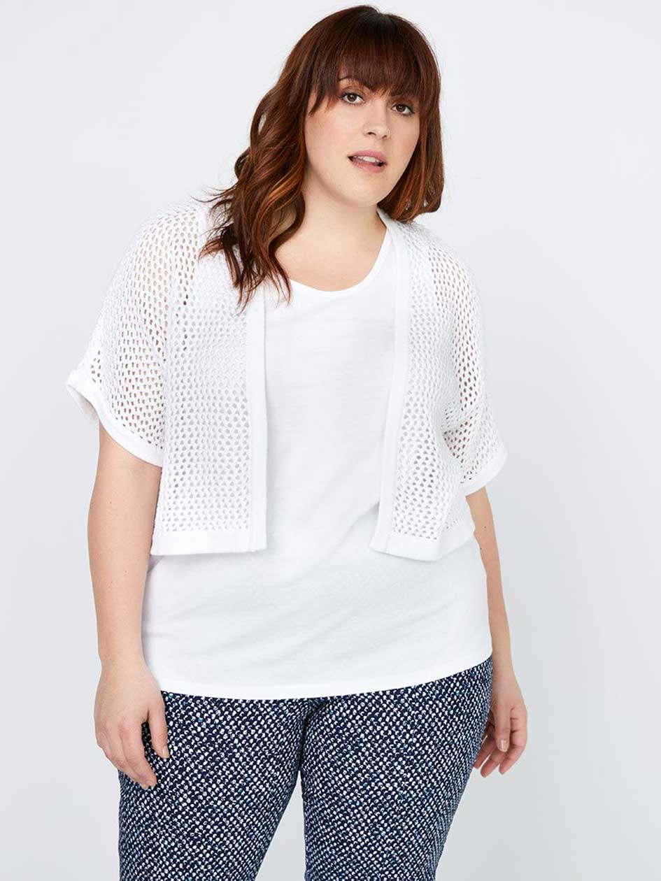 Cropped Open Stitch Cotton Cardigan - In Every Story