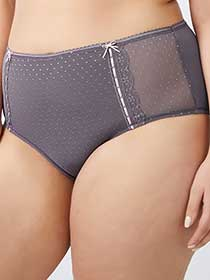 Patterned Brief Panty with Lace Trim - Ti Voglio