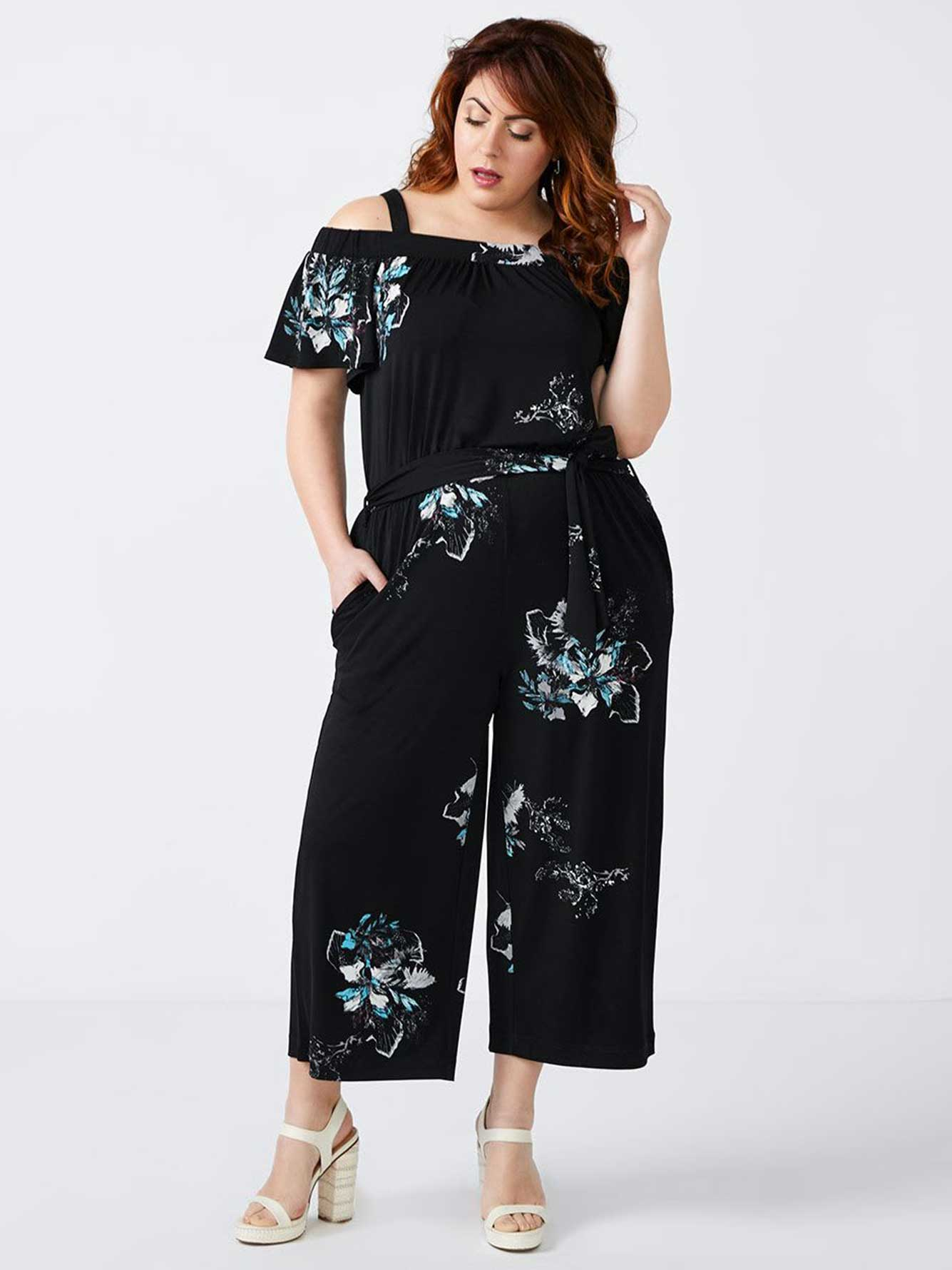 28065bcdcf Printed Off Shoulder Jumpsuit - In Every Story | Penningtons