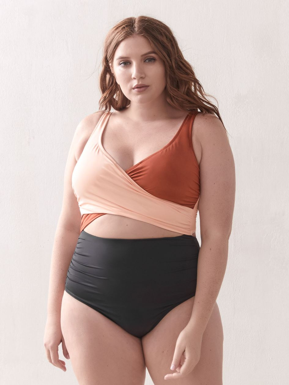 Wrap One-Piece Swimsuit - Everyday Sunday