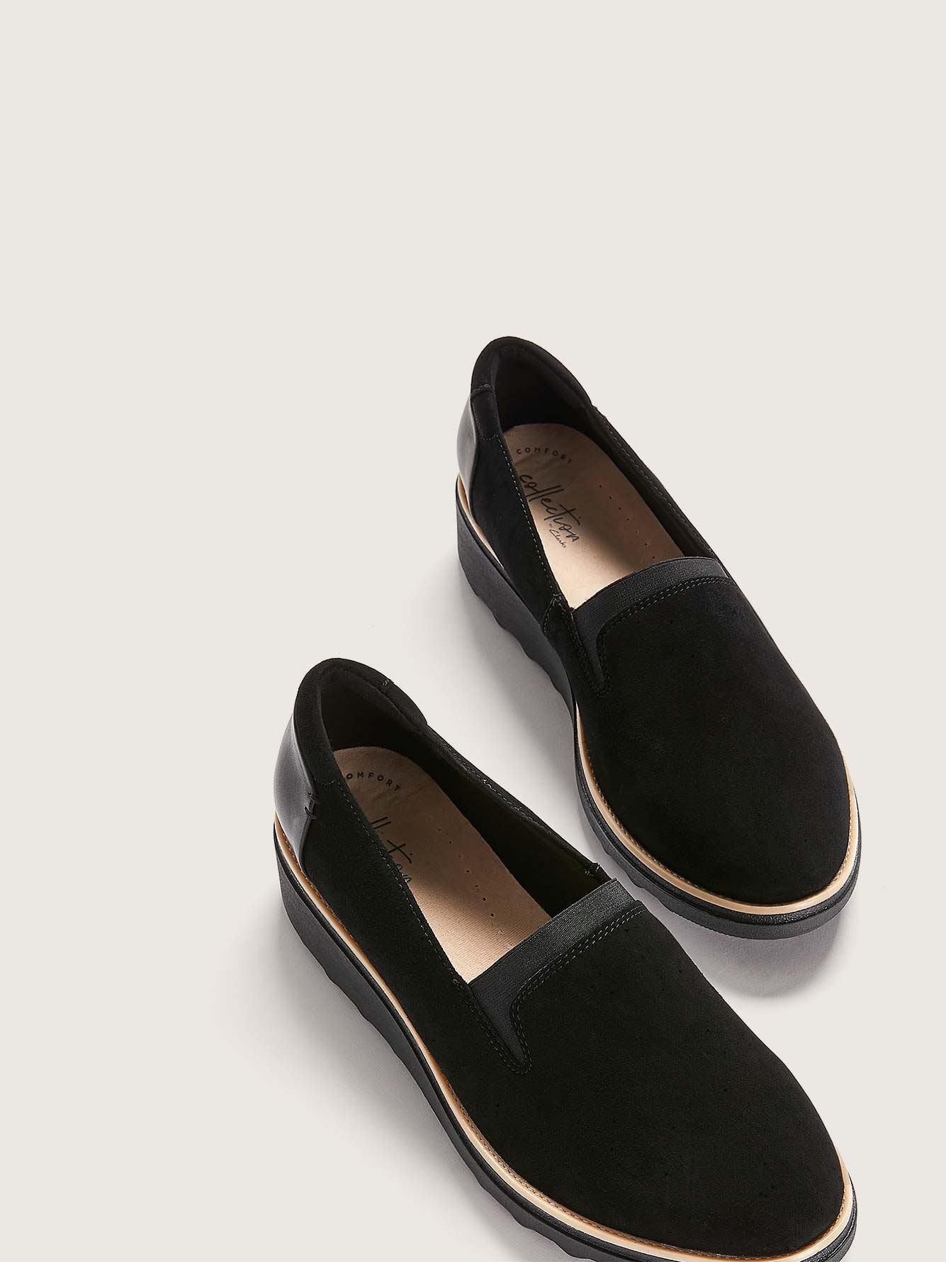 Clarks Chaussures Dolly Talon Larges À Sharon CompenséPieds