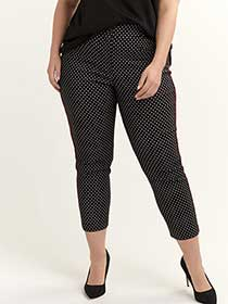 Printed Savvy Chic Ankle Pant