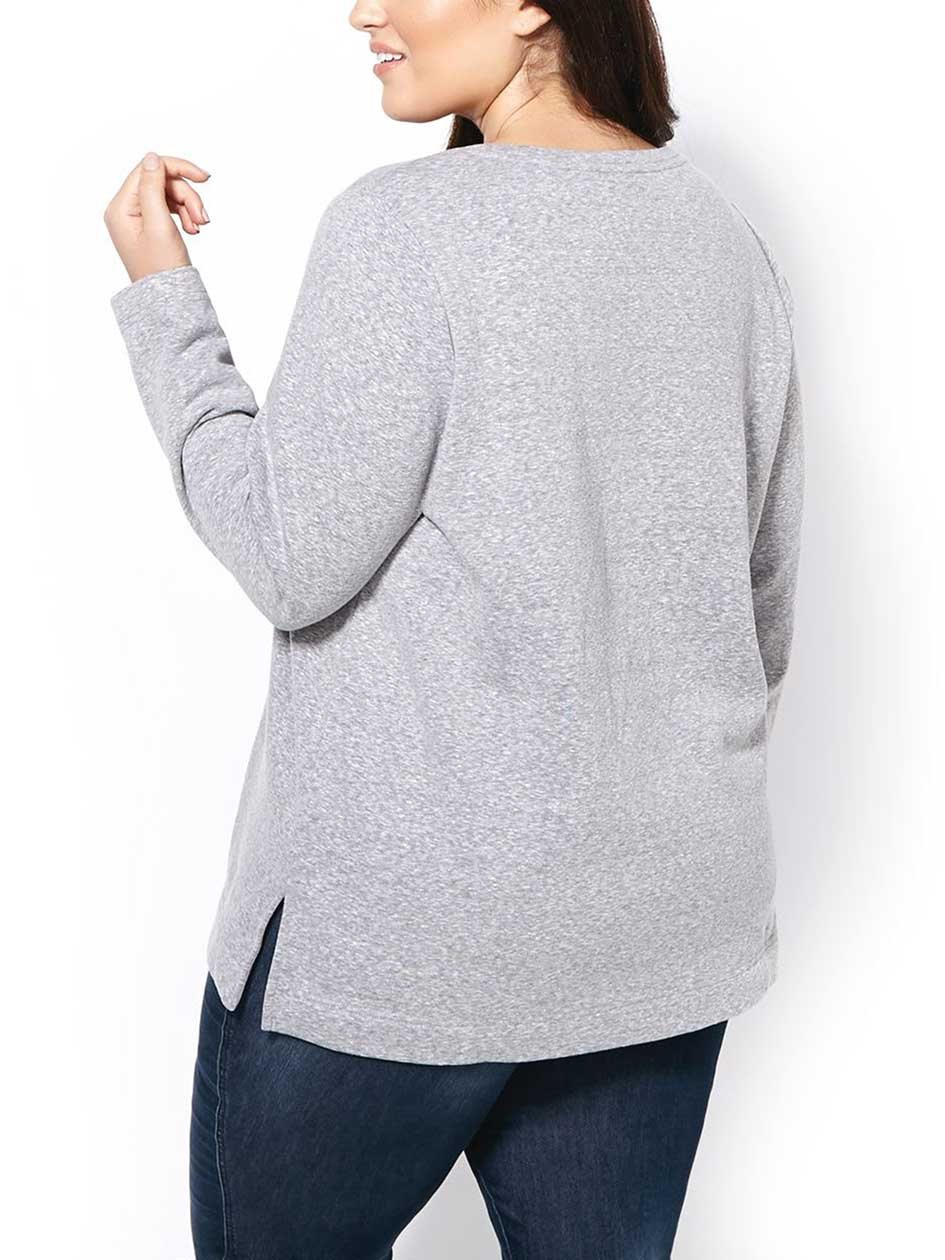 Long Sleeve Printed Sweatshirt
