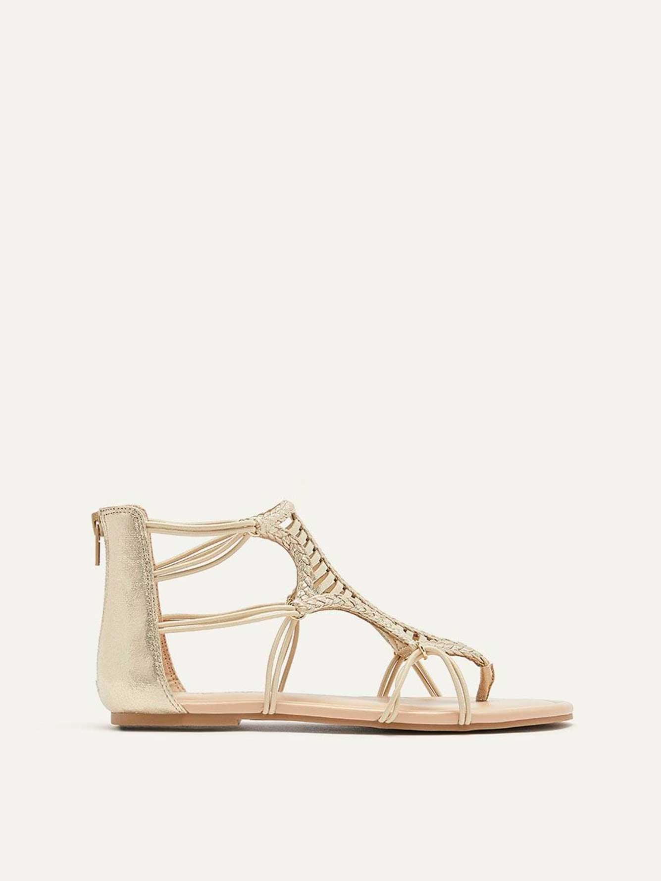 Extra Wide Shimmer Multi-Cord Sandals
