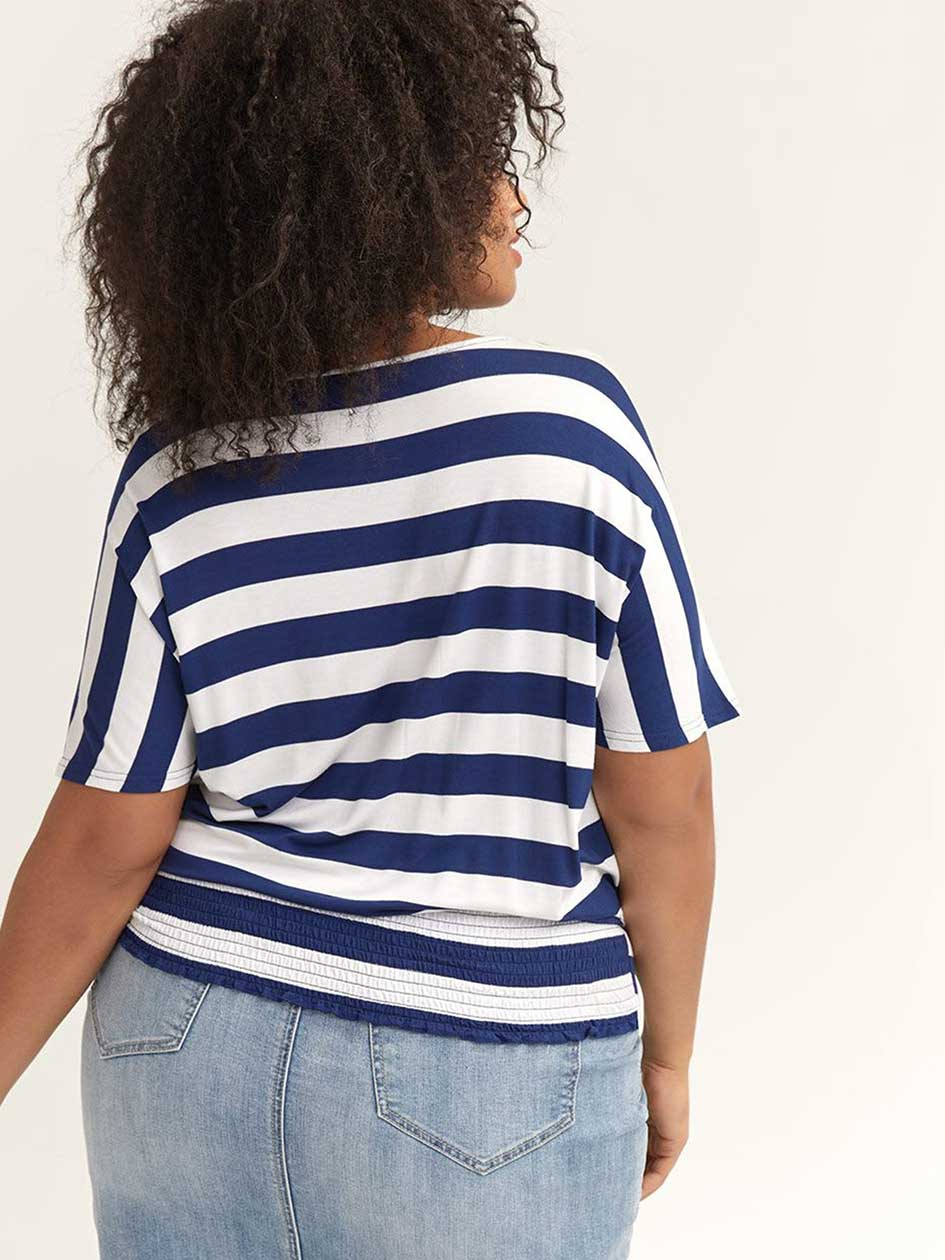 Striped Yarn-Dye Knit Top