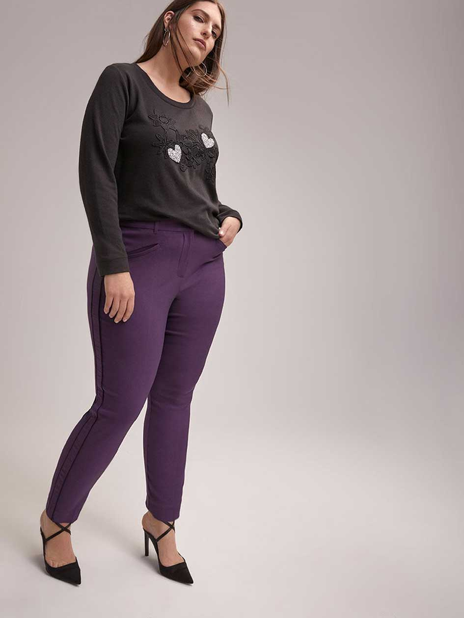 Savvy Soft Touch Slim Leg Ankle Pant with Side Bands - In Every Story