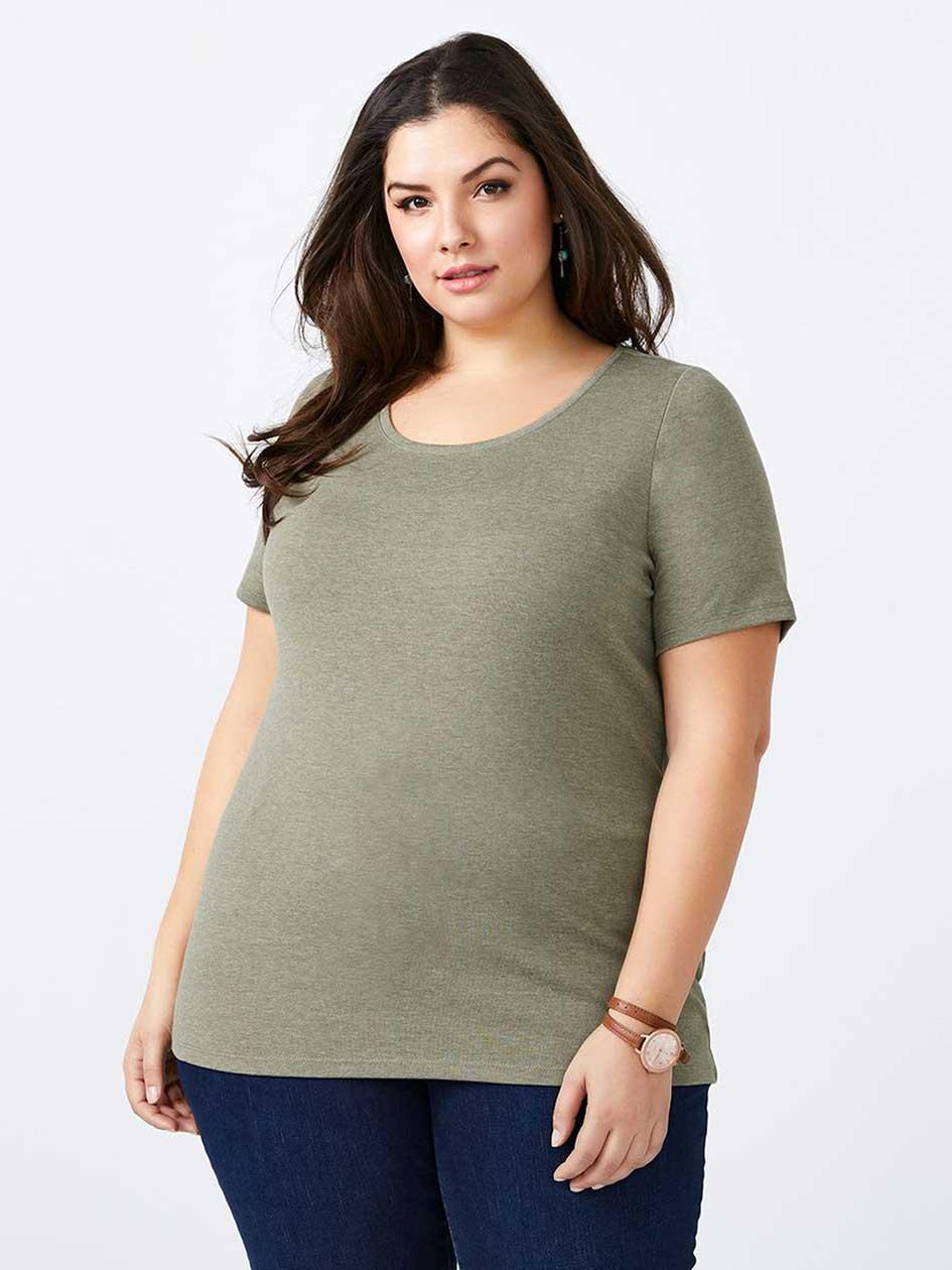 Curve Fit Basic Scoop Neck T-Shirt - d/c JEANS