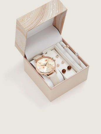 Watch Gift Set, Pink/Rose Gold - In Every Story