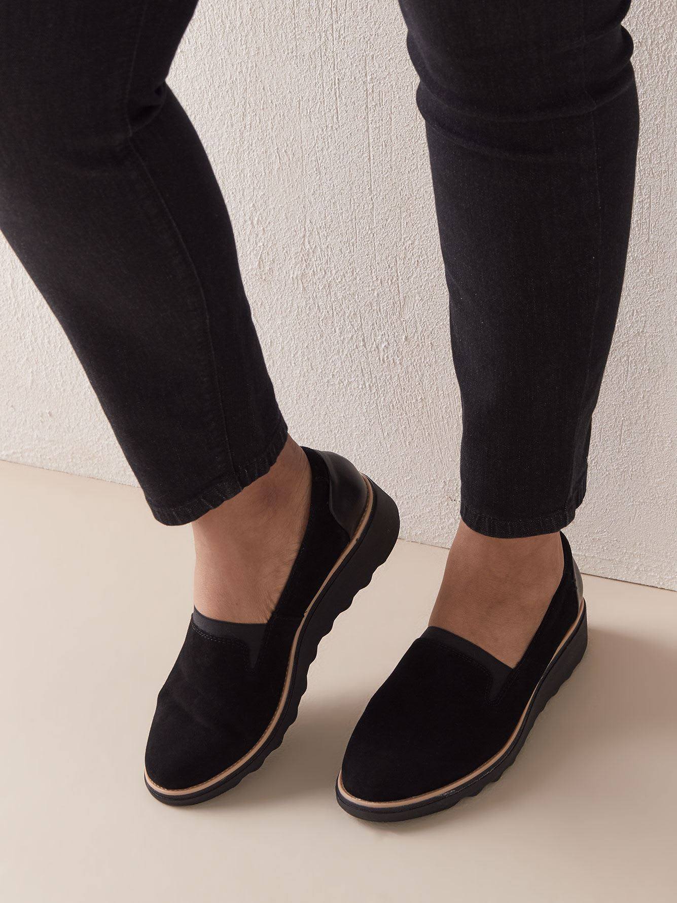 world-wide renown how to get colours and striking Wide Sharon Dolly Slip On Wedge Shoes - Clarks