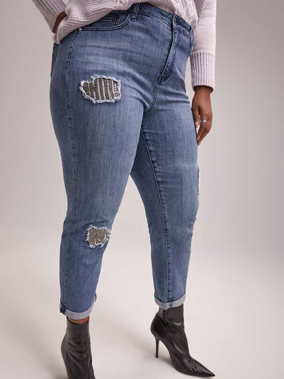 Slightly Curvy Straight Leg Girlfriend Jean - d/C JEANS