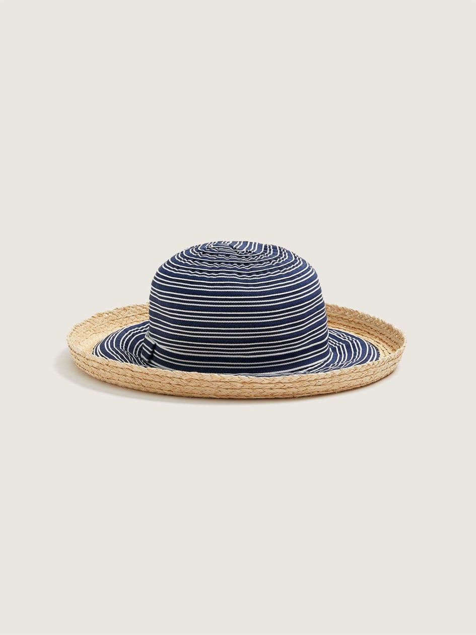 Striped Cotton Cloche Hat - Canadian Hat