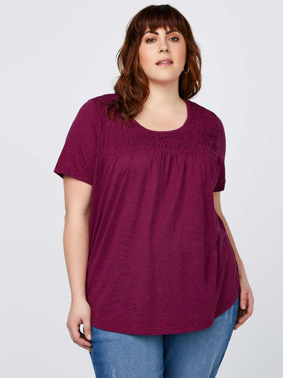 Solid Top with Smocking - d/C JEANS