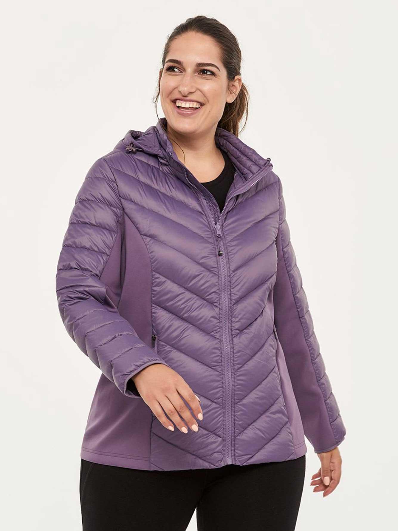 eba1d54b5dcc9 Short Packable Plus Size Hooded Jacket - ActiveZone