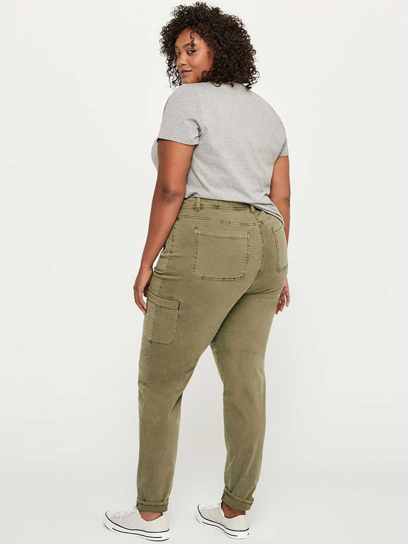 ONLY ONLY - Tall Slightly Curvy Fit Slim Leg Cargo Jean - d/C JEANS