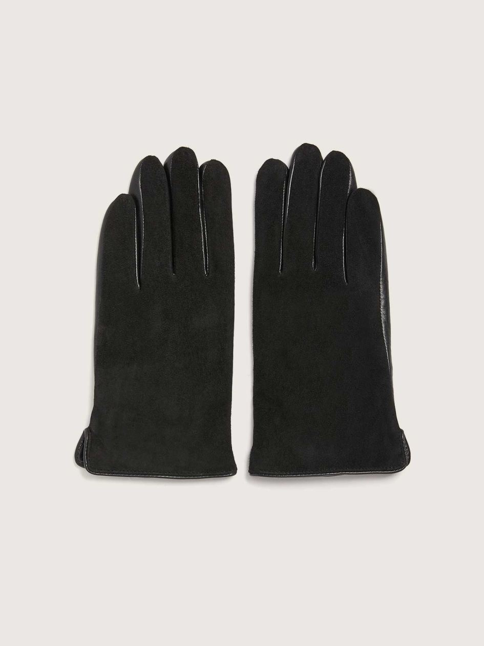 Suede and Leather Mix Media Gloves - Addition Elle