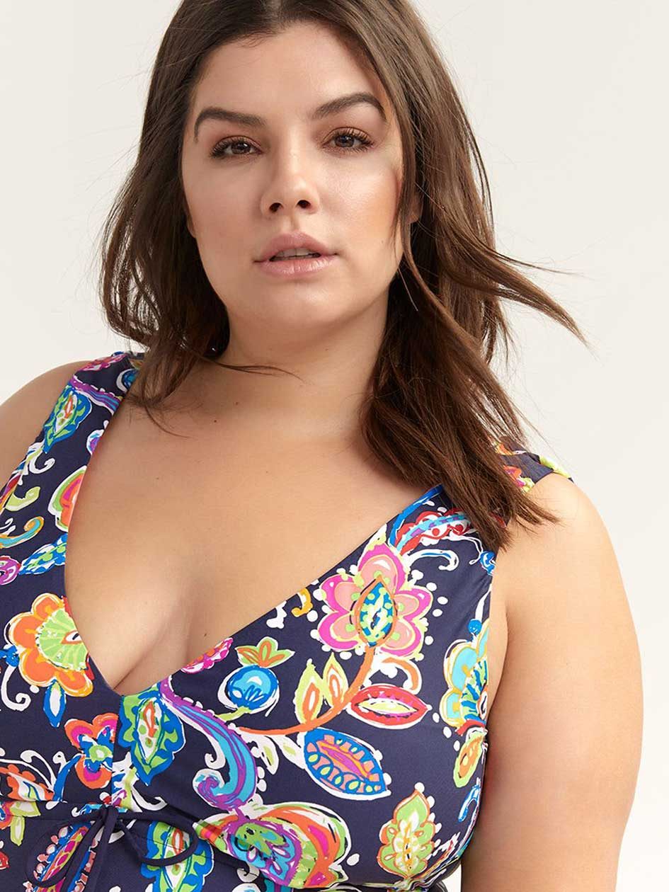 Printed One-Piece Swimsuit - Anne Cole