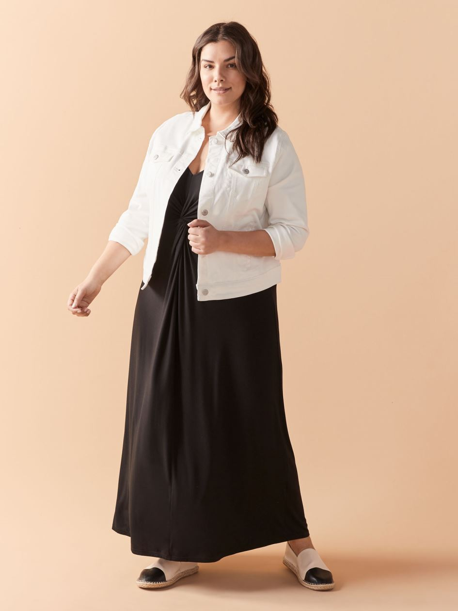 Robe longue unie sans manches, col en V - In Every Story