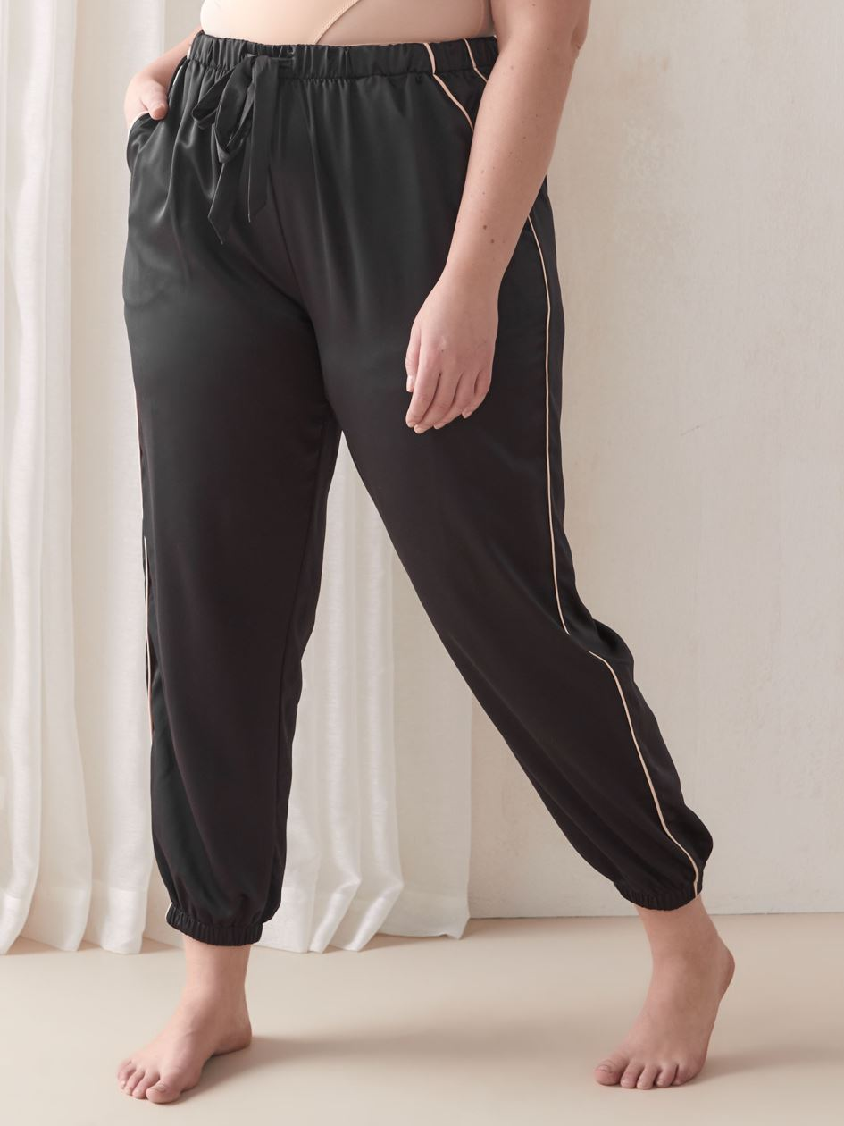 Pajama Jogger with Piping Detail - Ashley Graham