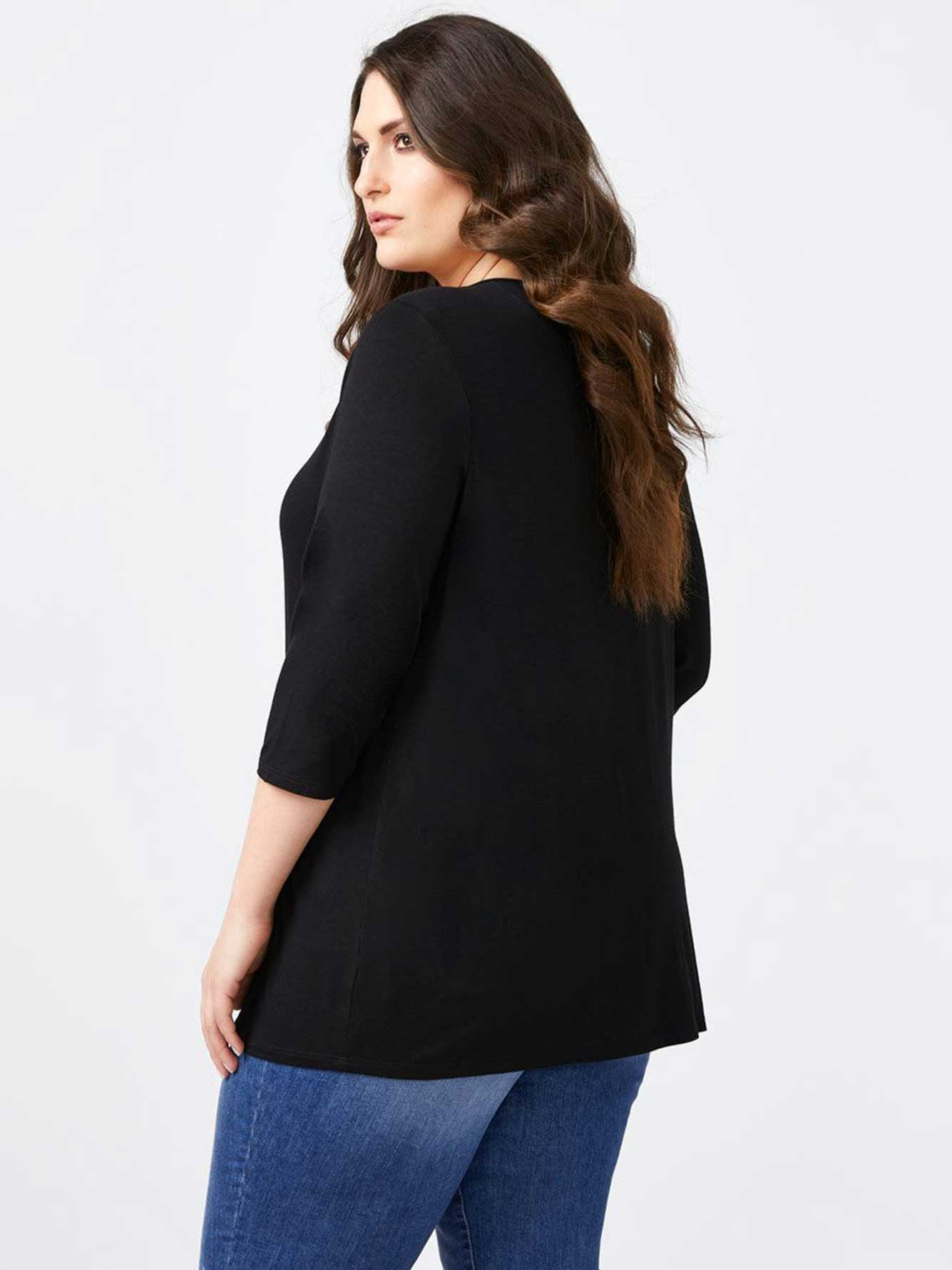 Solid Top with Neckline Detail - d/C JEANS
