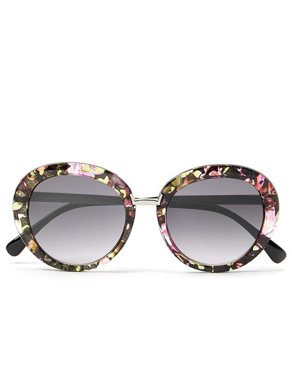 Rounded Floral Sunglasses