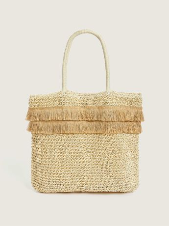 Straw Bag With Fringe - In Every Story