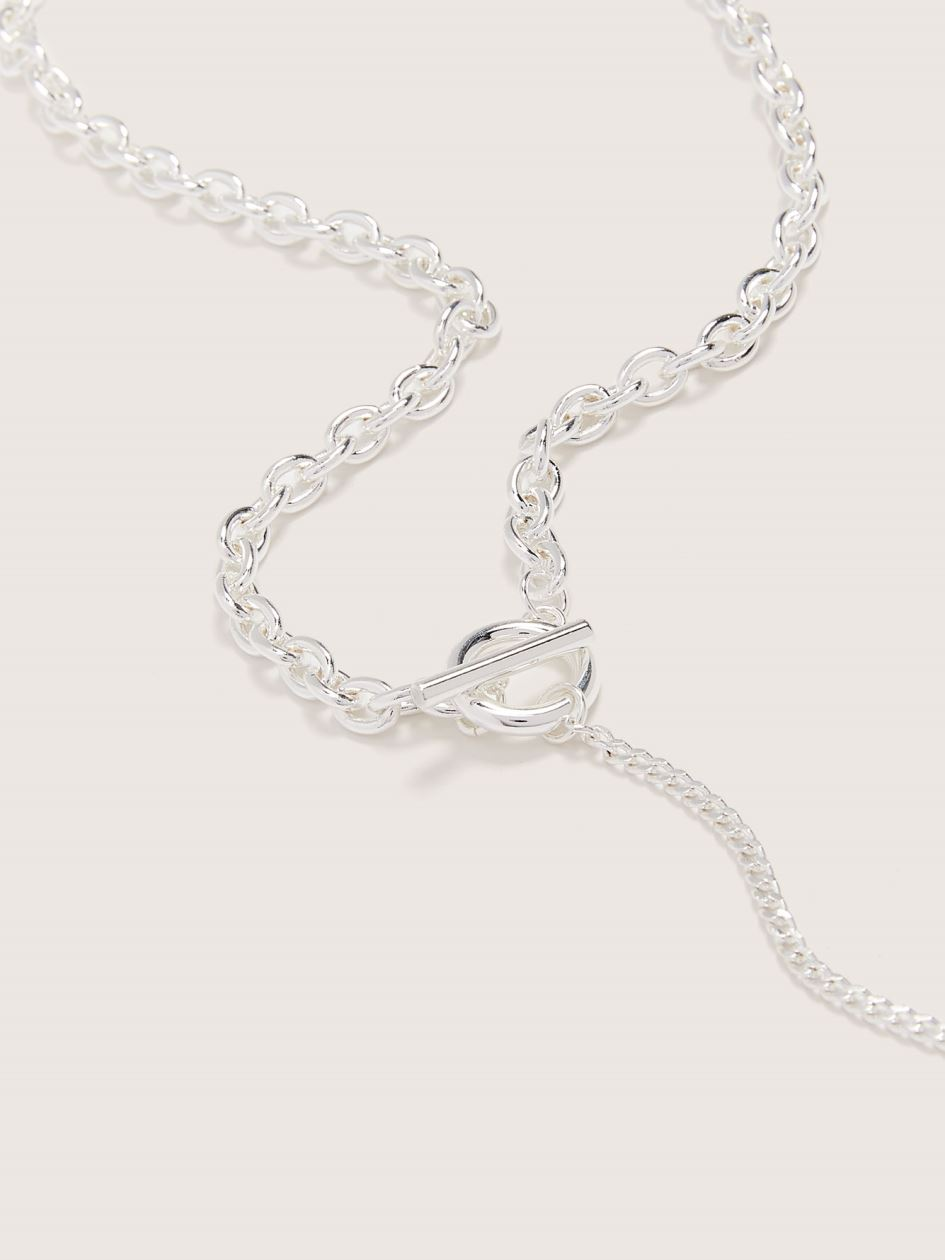 Silver Plated Y-Shaped Necklace - Addition Elle