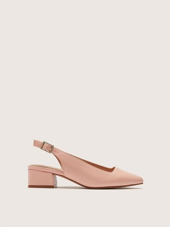 Wide Block Heel Slingback Pump - Addition Elle