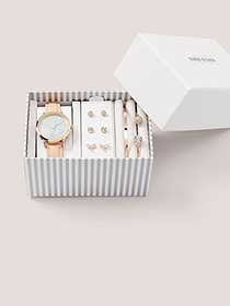 Gift Box with Watch, Bracelets and Earrings