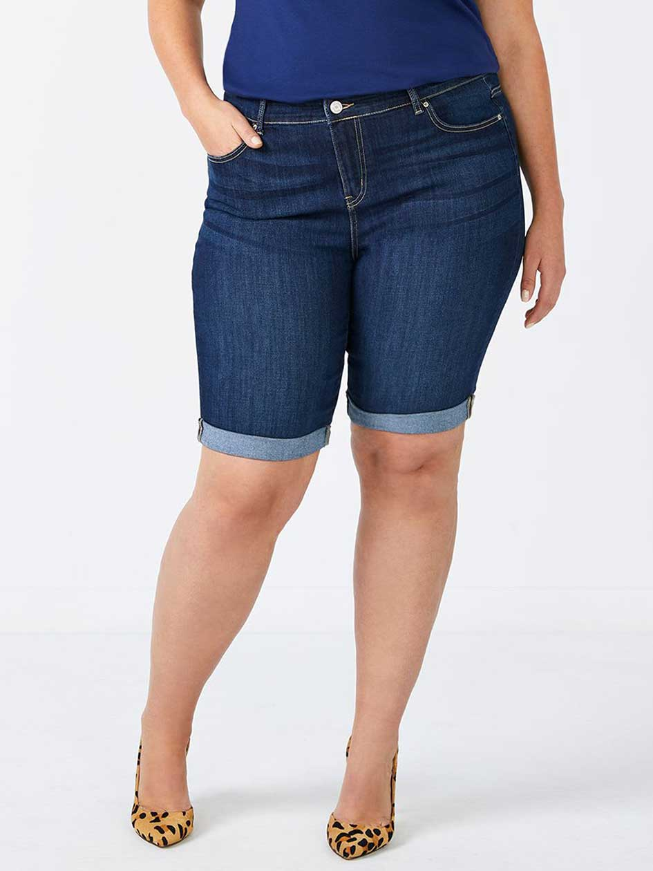 d/c JEANS Straight Fit Bermuda Jean Short