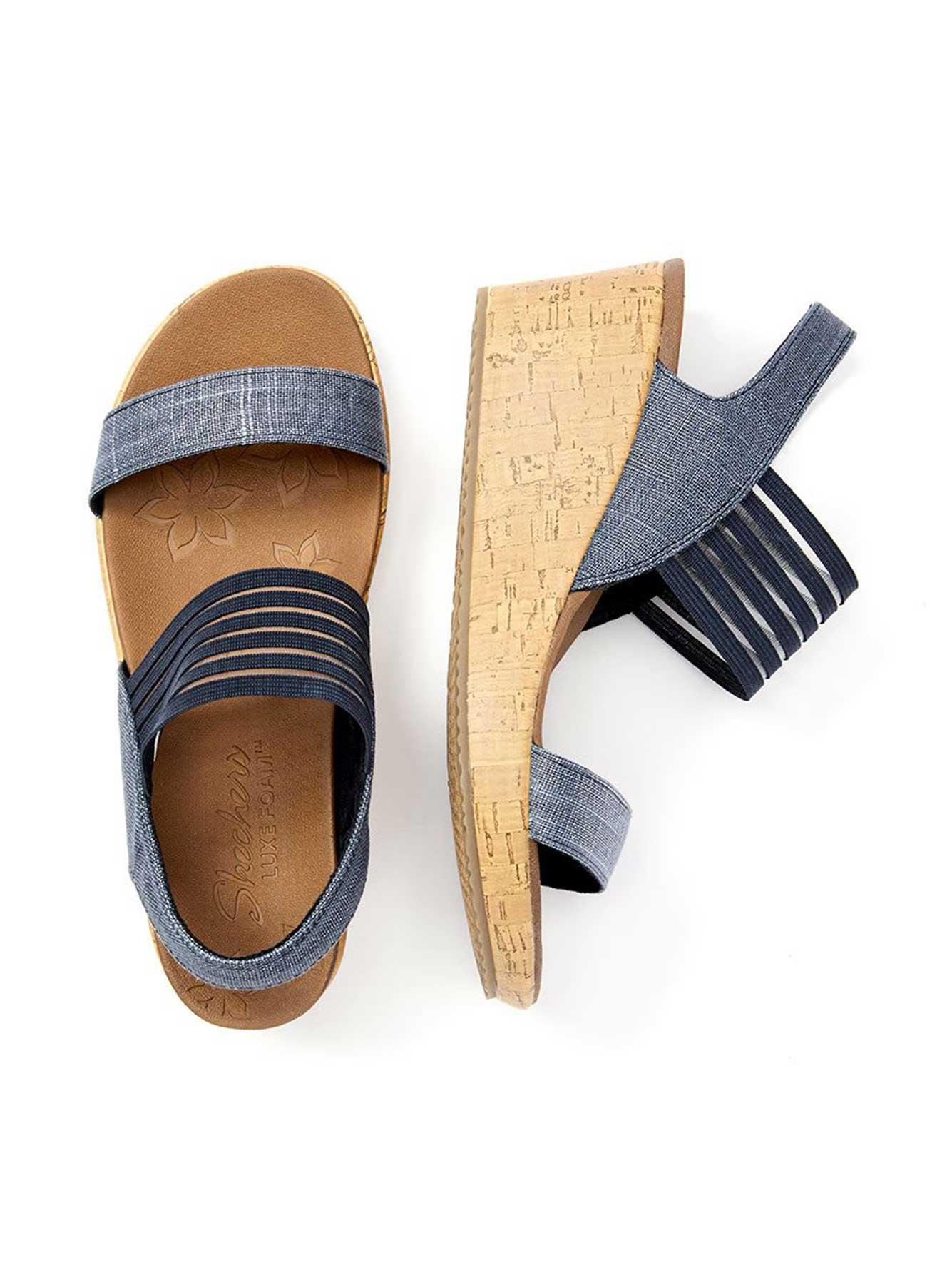 Wide-Width Wedge Sandals - Skechers | Penningtons