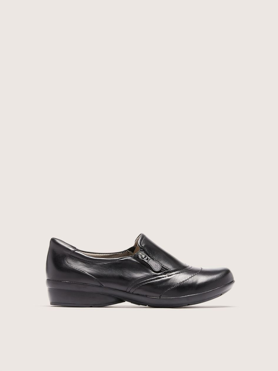 Wide Clarissa Black Leather Loafer - Naturalizer