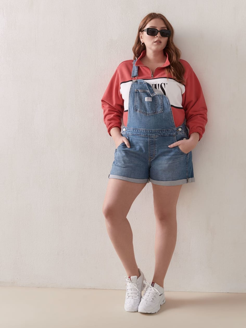 Stretchy Jean Shortalls with Rolled Hem - Levi's Premium