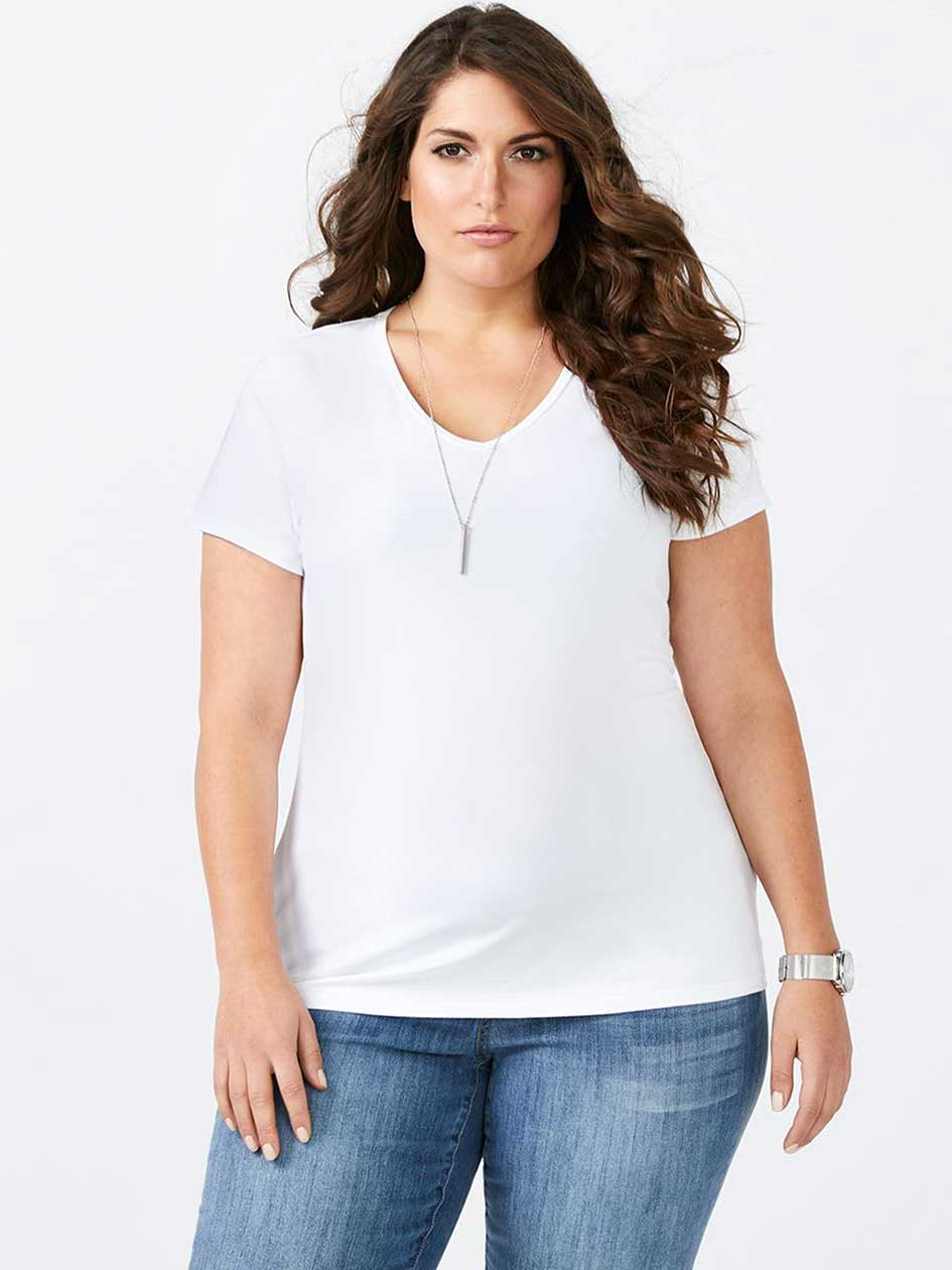 Layering Fit Basic V-Neck T-Shirt