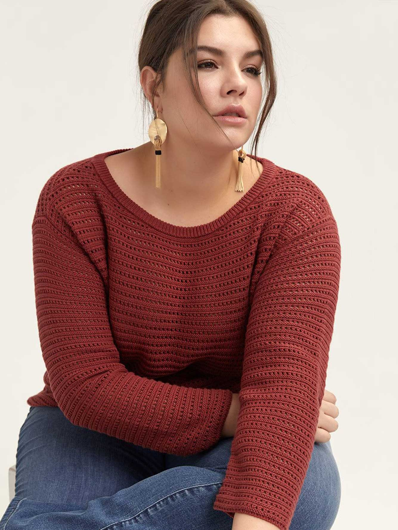 Long Sleeve Cotton Sweater - d/C JEANS
