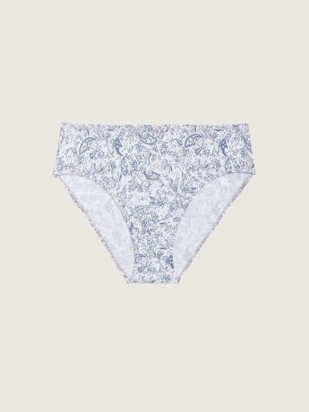 High-Cut Paisley Cotton Brief - ti VOGLIO