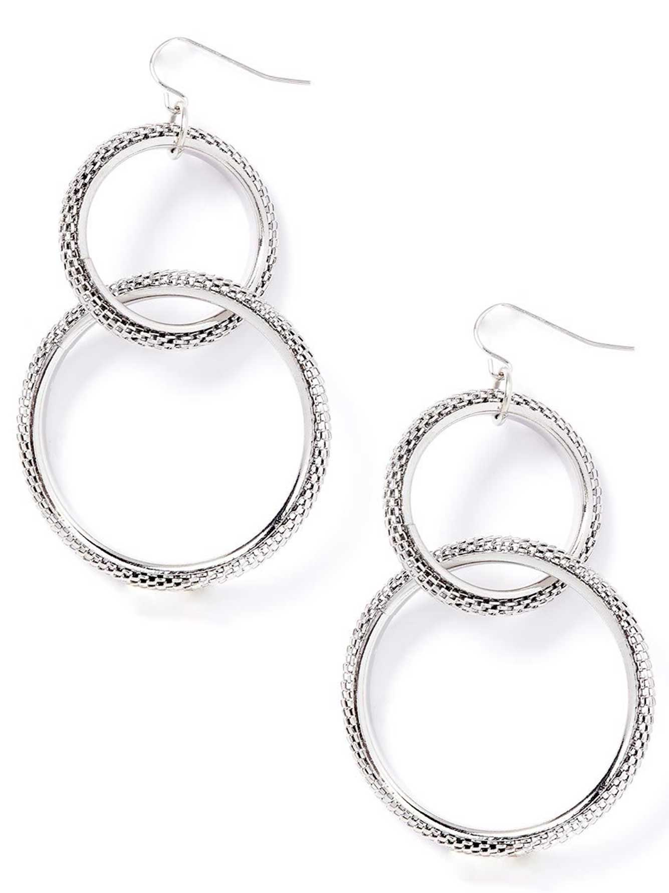Interlocked Hoop Earrings