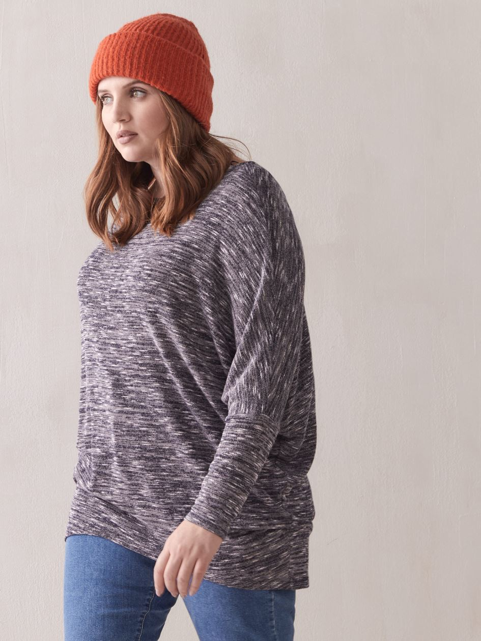 Slouch Long-Sleeve Top - Addition Elle
