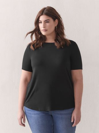 Modern Viscose Elastane T-Shirt - Addition Elle