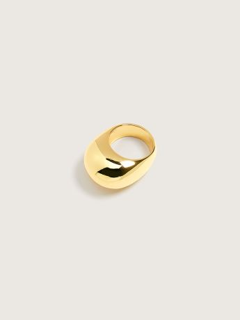 14K Gold Plated Dome Cocktail Ring - Addition Elle