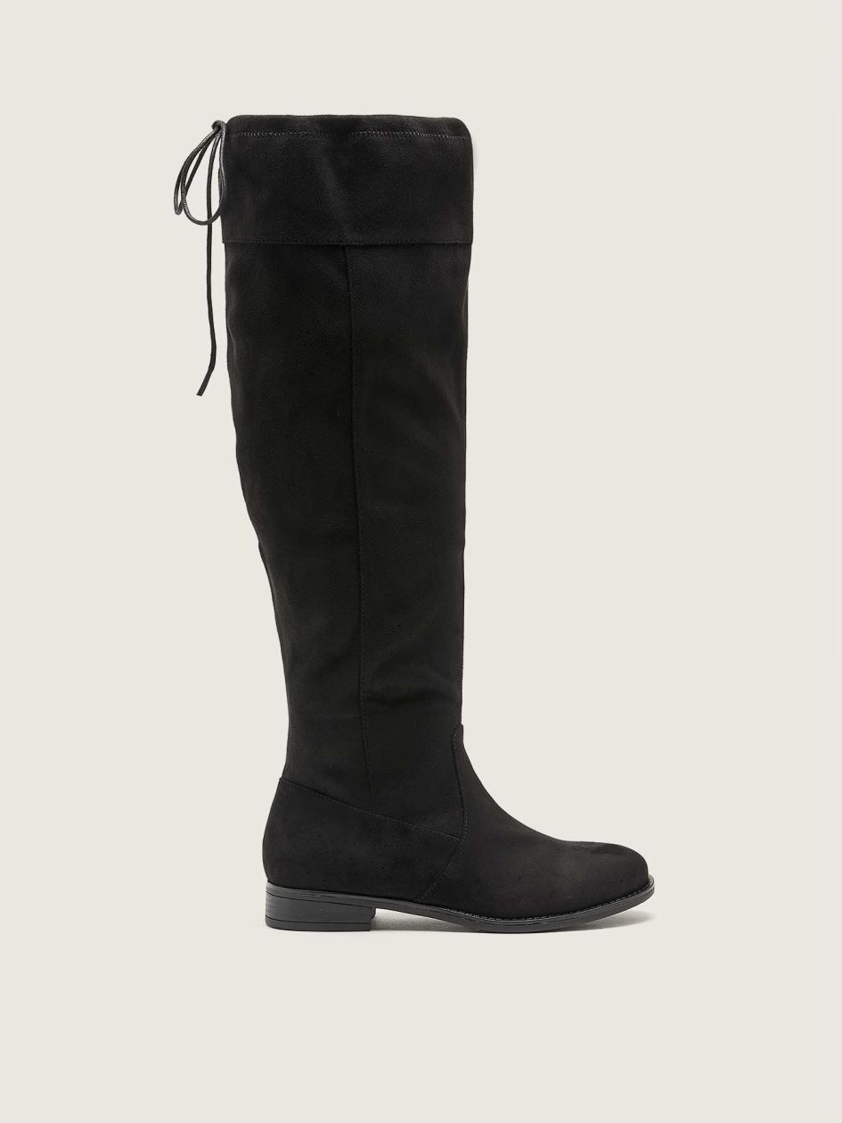 Wide Microsuede Tall Boot - Addition Elle