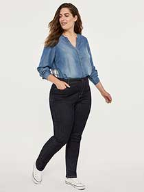 ONLINE ONLY- Tall Curvy Fit Straight Leg Jean - d/C JEANS