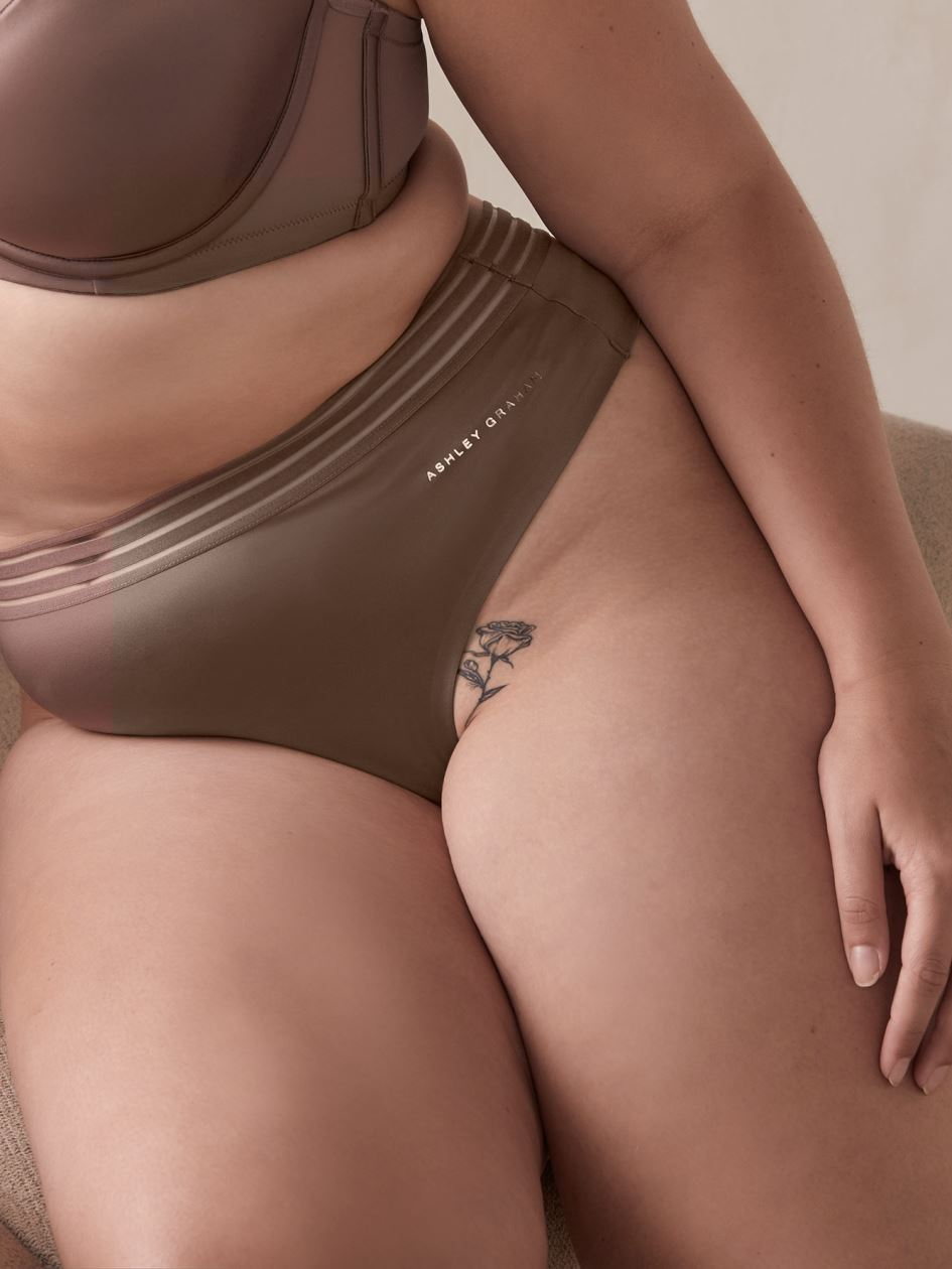 Solid Invisible Thong Panty - Ashley Graham