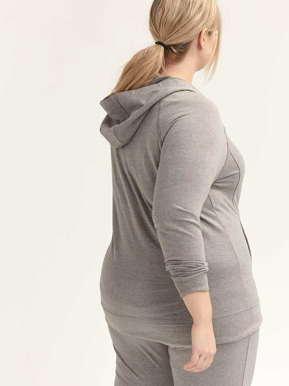 Plus Size Hooded Jacket with Drawstring