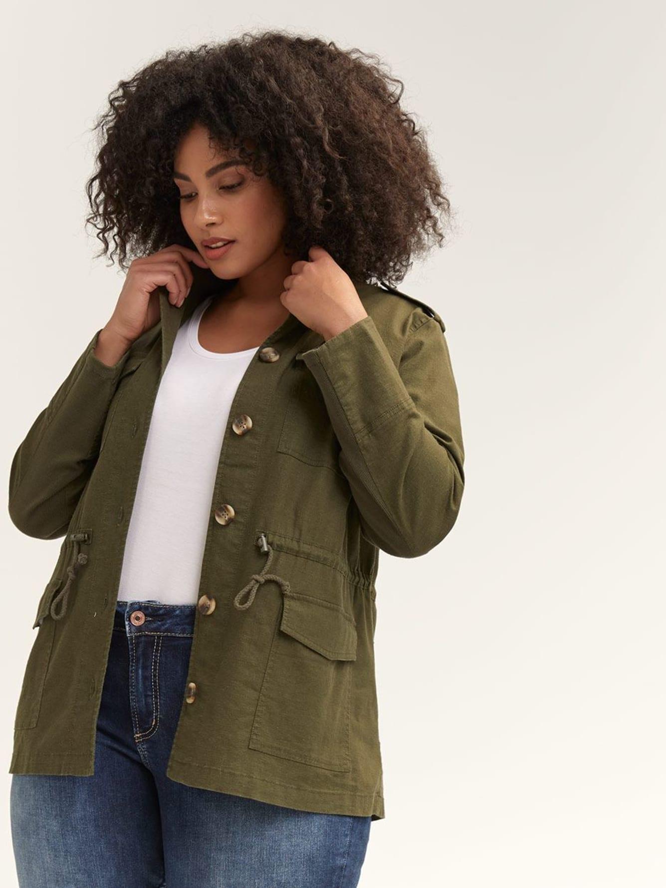 Linen Utility Jacket by Penningtons