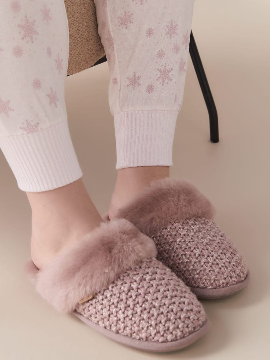 Addington Knit Sheepskin Slippers - Just Sheepskin