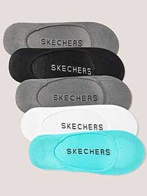 5 Pairs of Foot Covers - Skechers