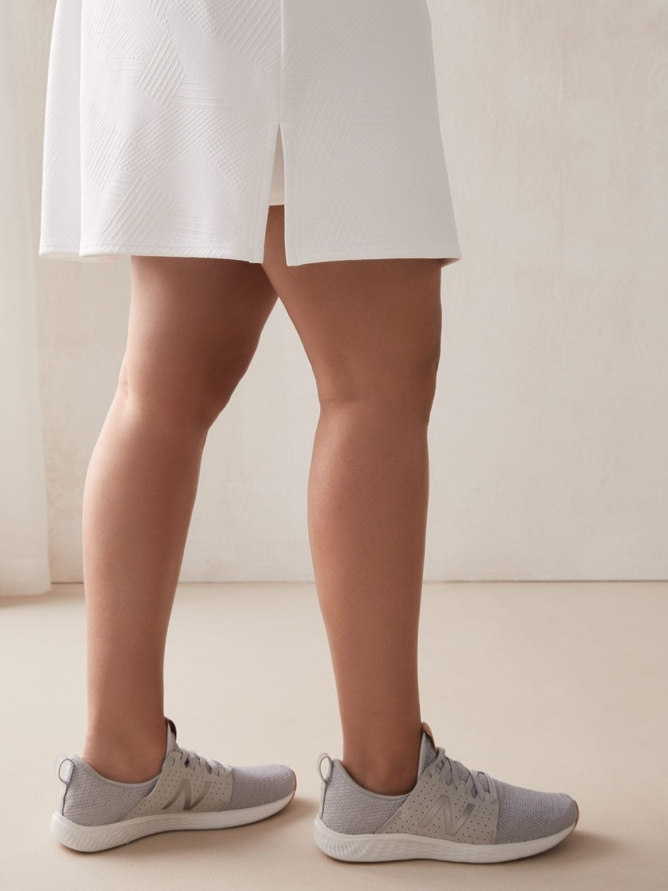 White Textured Skort - ActiveZone