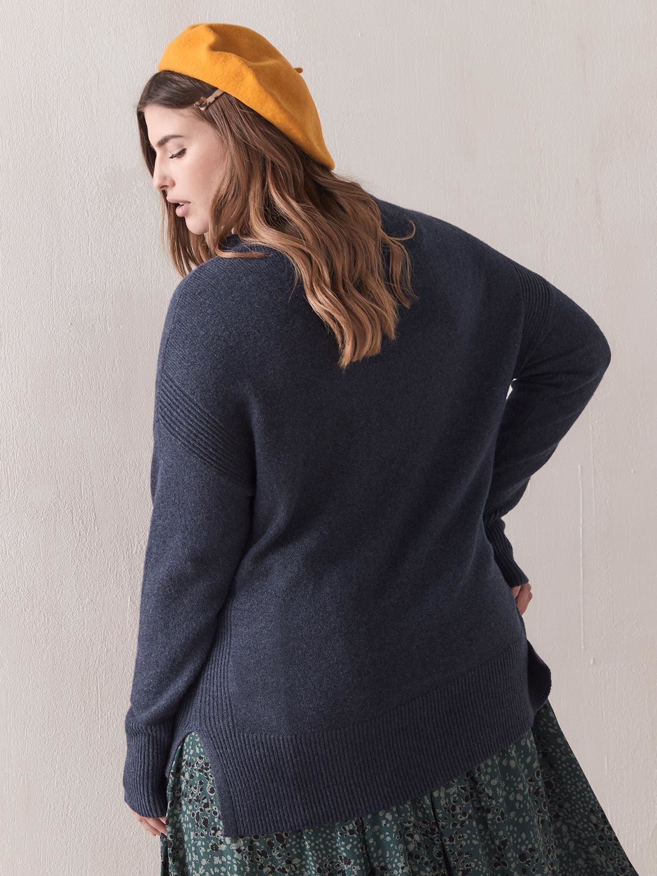Hi-Low Funnel-Neck Sweater - In Every Story